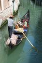 The gondolier - tourists at Venice Royalty Free Stock Photo