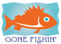 Gone fishin add the catch of the day to create a unique and sure to be loved fishing shirt Royalty Free Stock Photos