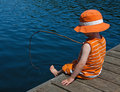 Gone fishing Stock Photography