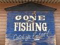 Gone Fishing Royalty Free Stock Photo