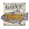 Gone Fishing Sign Art Royalty Free Stock Photo