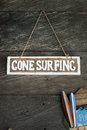 Gone surfing Royalty Free Stock Photo