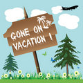 Gone on vacation Royalty Free Stock Photo