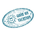 Gone on vacation rubber stamp Royalty Free Stock Photos