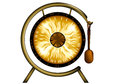 Gong isolated on a white background eps Stock Photo