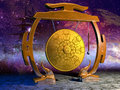 Gong and stars Royalty Free Stock Photo