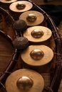 Gong thai music instrument traditional Royalty Free Stock Photos