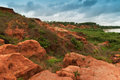 Gongoni gorge of red soil india called grand canyon west bengal Royalty Free Stock Photo