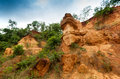Gongoni grand canyon of west bengal india called gorge red soil Royalty Free Stock Image