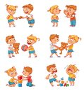 Good and bad behavior of a child Royalty Free Stock Photo