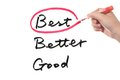 Good, better or best