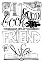 Good Book Is Your Friend For Life - Handwritten lettering in black and white. Royalty Free Stock Photo