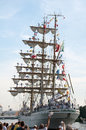 Good bye cuauhtemoc szczecin poland august arm on tall ships races final august in szczecin poland Stock Photos