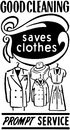 Good cleaning saves clothes Stock Image
