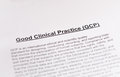 Good clinical practice gcp pic Royalty Free Stock Photography