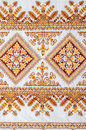 Good by cross-stitch pattern Royalty Free Stock Image