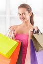 Good day for shopping. Royalty Free Stock Photo