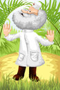 Good doctor nature vector illustration character done cartoon style perfect illustration children s books postcards calendars Royalty Free Stock Images