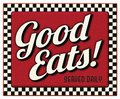 Good Eats Served Daily Diner Sign Royalty Free Stock Photo