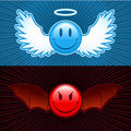 Good and evil smiley Royalty Free Stock Photography