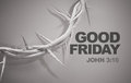 Good Friday John 3:16 Crown of Thorns 3D Rendering