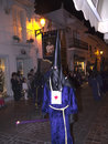 Good friday procession in nerja spain the easter processions start on maunday thursday and finish on easter sunday the statue from Royalty Free Stock Photo