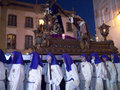 Good friday procession in nerja spain the easter processions start on maunday thursday and finish on easter sunday the statue from Royalty Free Stock Photography