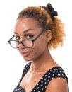 Good girl with glasses Royalty Free Stock Image