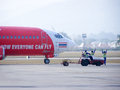Good hand for complete to take off chiangmai thailand december hs aaj boeing of thaiairasia flight from chiangmai airport Stock Photo