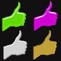 Good hand news symbols Стоковое фото RF