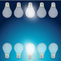 Good idea light bulb concept illustration design over a blue background Stock Photography