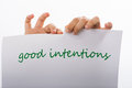 Good intentions Royalty Free Stock Photo