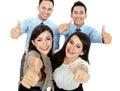 Good job, business people with thumbs up Stock Photos