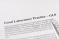 Good laboratory practice or glp refers to a quality system of management controls for research laboratories pic Stock Image