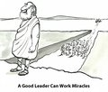 Good leader qualities a can work miracles Stock Photography