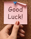 Good Luck Message Shows Best Royalty Free Stock Photo