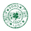 Good luck rubber stamp Royalty Free Stock Image