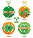 Good Luck tags and buttons Royalty Free Stock Images