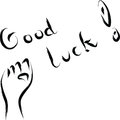 Good luck wishing abstract illustration Royalty Free Stock Image