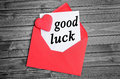 Good luck word on white paper Royalty Free Stock Photos