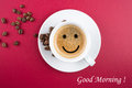 Good morning coffee cup Royalty Free Stock Photo