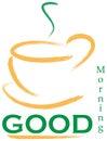 Good Morning Logo Stock Photography