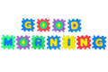 Good morning message from letters puzzle isolated on white background Stock Image
