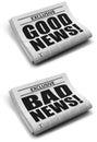 Good news and bad news Royalty Free Stock Photo
