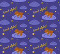 Good night seamless pattern. Royalty Free Stock Photo
