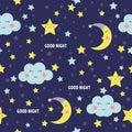 Good Night Seamless Pattern Wi...