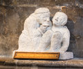 Good samaritan sculpture at the norman built stone cathedral at lincoln england Royalty Free Stock Photo