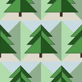 Good Seamless Firs Forest Pattern