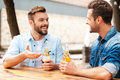 Good talk with friend. Royalty Free Stock Photo
