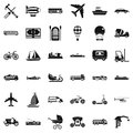 Good transport icons set, simple style